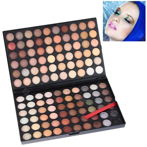 NO.04 Professional Cosmetic 120 Colors Eye Shadows Palette with Rectangle Box HB0198001