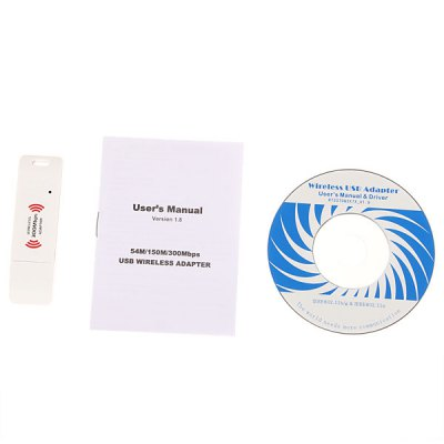 Гаджет   Cleverish 802.11N 300Mbps Wi-Fi Wireless USB Adapter Network Card -White Networking & Communication