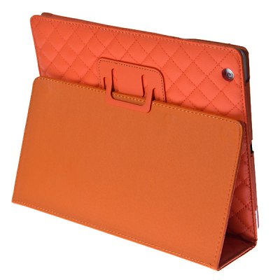 Гаджет   Fashion Rhombus Veins Pattern PU Leather Case for The New iPad / iPad 2 with Stand iPad Cases/Covers