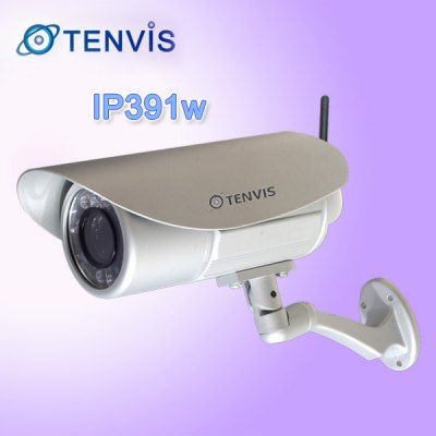 Tenvis IP391W Aluminium Crust IP Camera with 18 IR LEDs, Night Vision, Waterproof, WiFi (UK Plug)