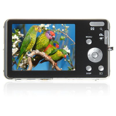 DC - E70 2.7 inch LCD 12.0MP Digital Camera 8X Digital Zoom Face Detecting, Anti - Shake, Smile Capture, TV - OUTDigital Camera<br>DC - E70 2.7 inch LCD 12.0MP Digital Camera 8X Digital Zoom Face Detecting, Anti - Shake, Smile Capture, TV - OUT<br><br>Language: English, Chinese, Portuguese, Italian, French, German<br>Pixel: 1200w<br>Display size (inch): 2.7<br>Screen type: Normal screen<br>Image resoluion: 1600 x 1200 (2MP), 3648 x 2736 (10MP), 2048 x 1536 (3MP), 4000 x 3000 (12MP), 2592 x 1944 (5MP), 3072 x 2304 (7MP), 640 x 480 (VGA), 3264 x 2448 (8MP), 1280 x 1960 (1MP), 3456 x 2592 (9MP)<br>Special performance: Continue Shot, Smile Capture, Face detection, Flash, TV out, Microphone<br>Battery type: Lithium Battery<br>Battery capacity: 3.7V 850mAh<br>Video resolution: 320 x 240, 640 x 480<br>Lens type: Stretched<br>Scene: Portrait, Party, Night scenery, Sports, Auto / Night portrait, High sensitivity, Beach, Scenery<br>White balance: Tungsten, Fluorescent, Cloudy, Daylight, Auto<br>ISO: 400, 200, 100, Auto<br>Exposure compensation : +3EV, -3EV<br>File format: AVI, JPEG<br>TV System : PAL, NTSC<br>System requirements: Windows XP, Windows 2000<br>External memory storage(Maximum, not included): SD card up to 8GB<br>Product weight: 0.103 kg<br>Package weight: 0.300 kg<br>Product size (L x W x H): 9.6 x 5.5 x 2.3 cm<br>Package size (L x W x H): 15.5 x 14.0 x 7.5 cm<br>Package contents: 1 x 12.0MP Digital Camera, 1 x Charger, 1 x Lithium Battery, 1 x USB Cable, 1 x Audio Cable, 1 x Pouch, 1 x Strap, 1 x User Manual