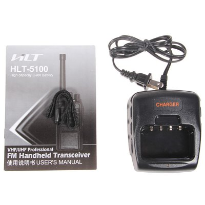 HLT-5100 VHF/ UHF Professional FM Handheld Transceiver Walkie Talkie with 39 CTCSS and 83 DCS