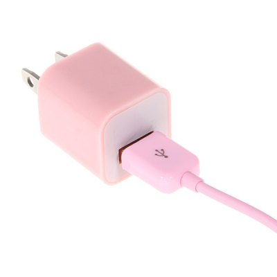 Unique Style US Power Adapter + 2m 30 Pin Cable for iPhone / iPod