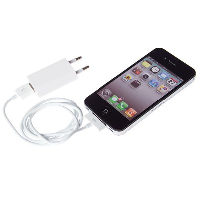 Cool Design EU Charging Adapter Charger + 30 Pin Cable for iPhone / iPodiPhone Cables &amp; Adapters<br>Cool Design EU Charging Adapter Charger + 30 Pin Cable for iPhone / iPod<br><br>Compatibility: iPhone 4, iPhone 4S<br>Type: Adapter, Cable<br>Interface type: 30 pin<br>Cable length (cm)  : 1M<br>Plug: EU plug<br>Input: 100~240V 50/60Hz 0.15A<br>Output: 5V 1A<br>Package weight : 0.040 kg<br>Package size (L x W x H) : 11.5 x 10.5 x 1.7 cm<br>Package Contents: 1 x AC Charger, 1 x USB Cable