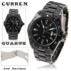 Curren Brand Men's Wrist Watch with Calendar Function Dial Steel Band