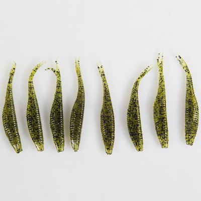 8PCS Minnows Pattern Soft Plastic Fishing Lure Bait