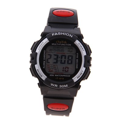 Гаджет   Multi - function LED Waterproof Watch with Round Dial and Rubber Band Watches
