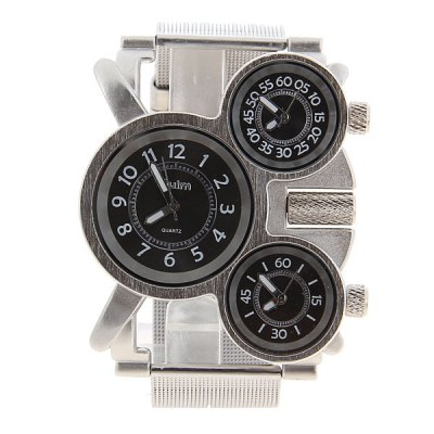 Гаджет   Oulm Military Watches with 3 Movt Design and Steel Band Men