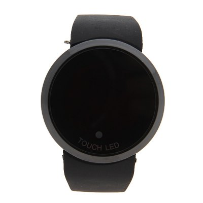 Red LED Touch Screen Multi - functional Watch with Round Dial and Silicon BandWatches &amp; Jewelry<br>Red LED Touch Screen Multi - functional Watch with Round Dial and Silicon Band<br><br>Band material: Rubber<br>Clasp type: Pin buckle<br>Display type: Numbers<br>Movement type: Digital watch<br>Package Contents: 1 x Watch<br>Package size (L x W x H): 24.00 x 4.00 x 1.00 cm / 9.45 x 1.57 x 0.39 inches<br>Package weight: 0.056 kg<br>People: Unisex table<br>Product size (L x W x H): 25.20 x 4.50 x 1.30 cm / 9.92 x 1.77 x 0.51 inches<br>Shape of the dial: Round<br>The dial diameter: 4.5 cm<br>The dial thickness: 1.3 cm<br>Watch style: LED