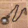 Trendy Quartz Pocket Watch with Hanging Neck Chain for Unisex in Medium Size (Bronze) for sale