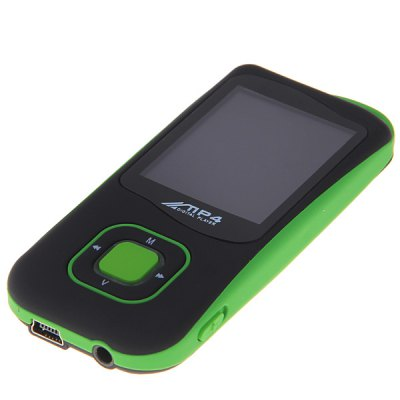 1.8 Inch LCD 4GB FM TF Card Supported Built-in Lithium Battery MP4 Player (Green)
