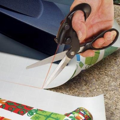Straight Line Cut Guided Fabric Scissors with Red Laser (Lower Than 5MW)