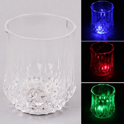Special LED Projection Light Electronic Chromatic Light Wineglass for Christmas -Transparent