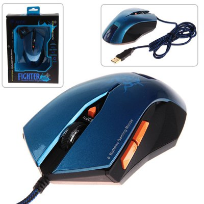 JITE - 2045 6 Buttons Special Design Wired Optical 6D Game Wheel Mouse High Accuracy