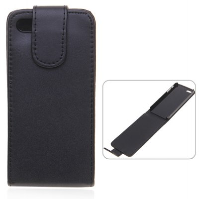 10PCS Vertical Flip PU Leather and Plastic Case for iPhone 5