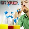 Novelty DIY Straws with Flexible Design