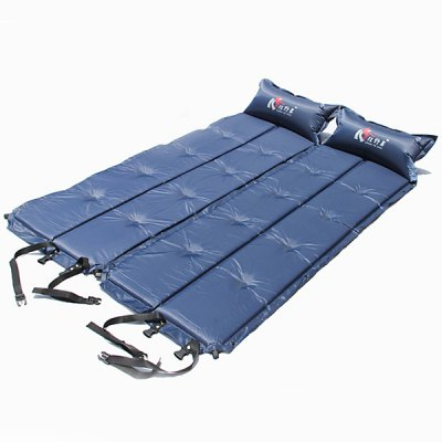 Automatic Inflatable Mattress Camping Siesta Sleeping Mat Moistureproof Mat (Cyan)