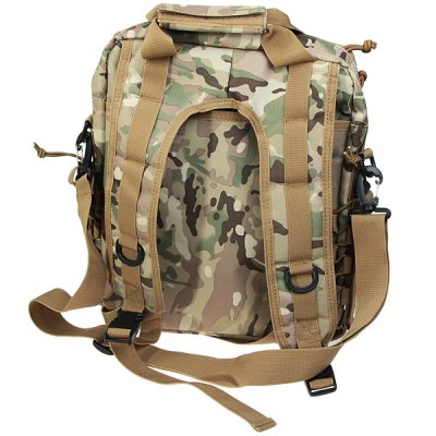 New Arrival Military Style Laptop Bag Outdoor Double Shoulder BackpackBackpacks<br>New Arrival Military Style Laptop Bag Outdoor Double Shoulder Backpack<br><br>Type: Backpack<br>For: Hiking, Camping, Fishing, Travel, Cycling, Adventure<br>Material: Nylon<br>Capacity: &lt;20L<br>Color: Black, Khaki, Camouflage<br>Product weight   : 0.9 kg<br>Package weight   : 1.1 kg<br>Product size (L x W x H)   : 34 x 10 x 41 cm<br>Package size (L x W x H)  : 35 x 10 x 42 cm<br>Package Contents: 1 x Laptop Bag