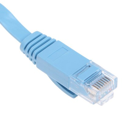Гаджет   High-speed Ultra-thin PC-HUB RJ45 (8P8C) Ethernet CAT6a Flat LAN Cable 20M -Blue Cables & Connectors