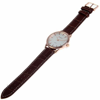 Гаджет   Curren Watch with Round Dial and Leather Band Men