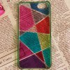 Fashion Colorful Bottom Geometric Drawing Bayer Material Protective Case Cover for iPhone 5 ( Green ) for sale