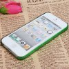 cheap Fashion Colorful Bottom Geometric Drawing Bayer Material Protective Case Cover for iPhone 5 ( Green )