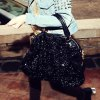 Stylish Solid Color Sequins Zipper Design Women's Tote