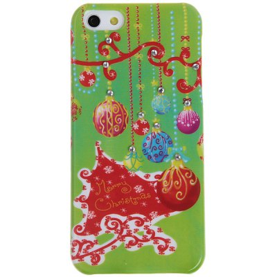 Christmas Gift Lanterns Pattern Diamonds Plastic Case for iPhone 5