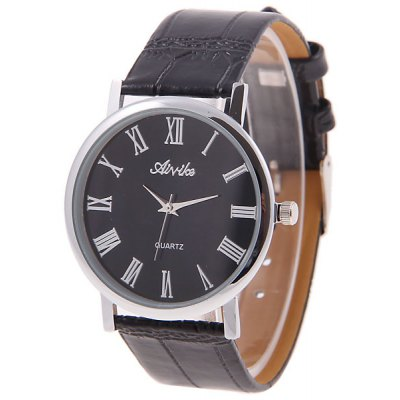 8014 Unisex Leather Quartz Analog Watch