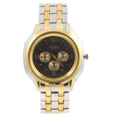 Rosra Cheap Watch with Three Small Decorating Hands Round Dial and Steel Band
