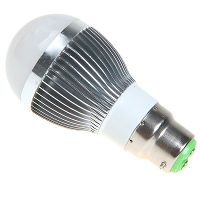 B22 6W AC220 - 240V White Ball Bulb