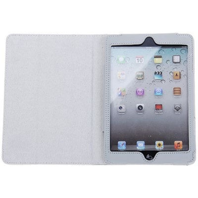 Фотография Magnetic Flip PU Leather Cover Case with Stand for iPad Mini ( Gray )