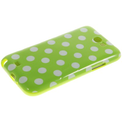 Fashion Style Dots Glossy TPU Shell Case for Samsung Galaxy Note 2 N7100