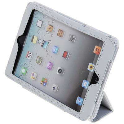 Magnetic Flip PU Leather Cover Case with Stand for iPad Mini ( Gray )