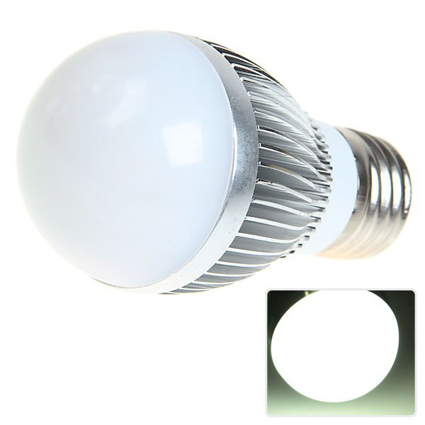 E27 6W AC220 - 240V 5630 SMD LED White Ball Bulb