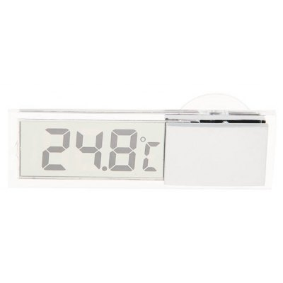 K - 036 See Through Display Digital Thermometer with Suction Cup for Auto Car