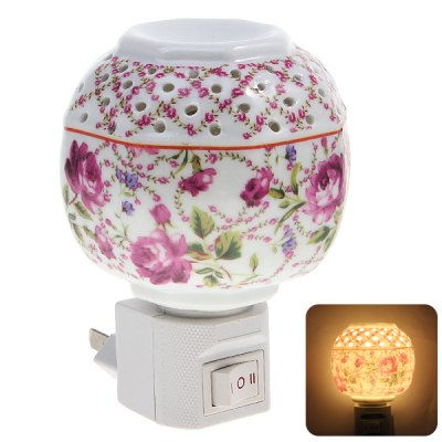Sweet Plum Flower Pattern Aroma Ceramic Night Light Delicate Bedroom Decoration Valentine GiftHome Decors<br>Sweet Plum Flower Pattern Aroma Ceramic Night Light Delicate Bedroom Decoration Valentine Gift<br>