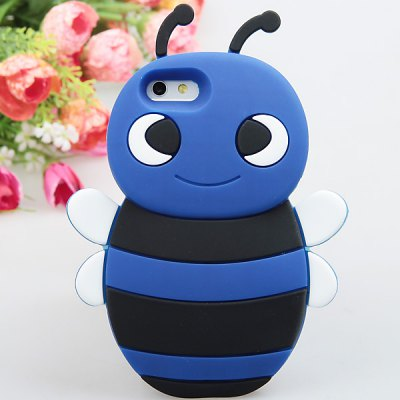 Cool Little Bee Style Silicone Shell Case for iPhone 5