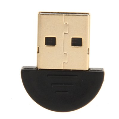 ФОТО Portable Gold-plated USB Bluetooth 3.0 Dongle Up to 20m Range -Black with Golden