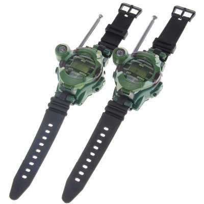 One Pair of Watch Style Funny Free Talker Walkie Talkie with Seven Function (Green)