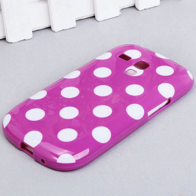 Cool Style Dots Smooth TPU Shell Case for Samsung Galaxy SIII Mini i8190