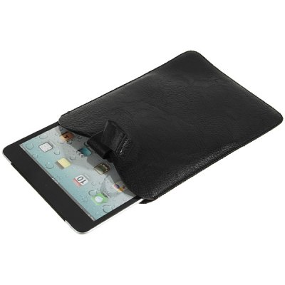 Cool Pull Tab Style H Closure PU Leather Pouch Case for iPad Mini