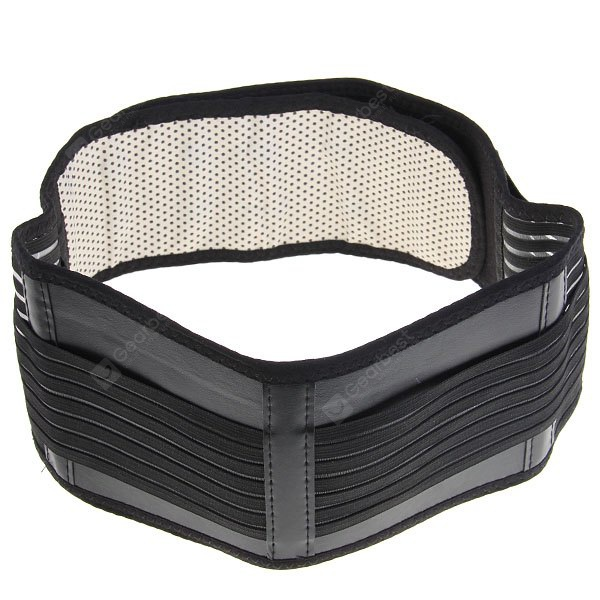 High Quality Waist Brace Support Spontaneous Heating Magnetic Protective Belt (Black)