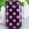 Fashion Style Dots Glossy TPU Shell Case for Samsung Galaxy Y Duos S6102