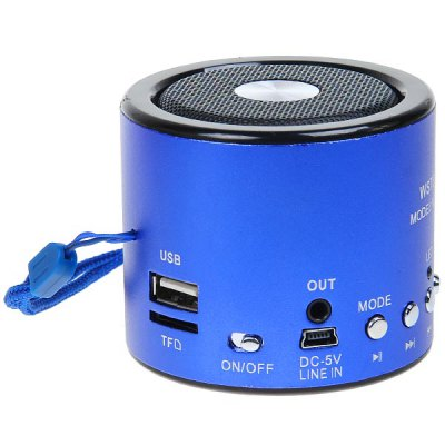 WS - A8 Portable Column Shaped Mini Mobile Speaker Audio Player FM Radio TF Card Reading