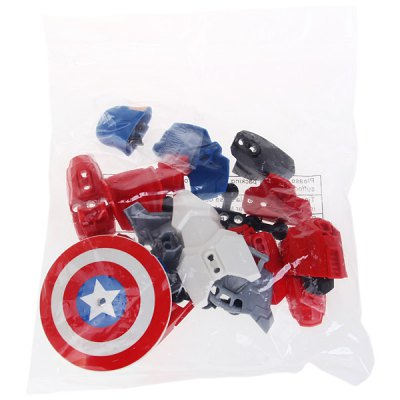 Educational Toy NO.6006 Super Heroes American Captain DIY Model of New DesignPuzzle &amp; Educational<br>Educational Toy NO.6006 Super Heroes American Captain DIY Model of New Design<br><br>Type: Intelligence toys<br>Age: 3 Years+<br>Material: Plastic<br>Design Style: Cartoon<br>Features: Movie and TV<br>Puzzle Style: 3D Puzzle<br>Small Parts : Yes<br>Washing : No<br>Applicable gender: Unisex<br>Package Weight   : 0.25 kg<br>Package Size (L x W x H)  : 16 x 5.6 x 24.6 cm<br>Package Contents: 1 x NO.6006 American Captain, 1 x User Manual