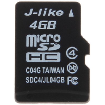J - like High Quality C4 4GB Micro SDHC/ SD TransFlash Memory Card