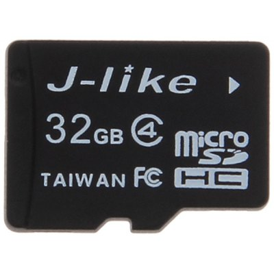 J-like C4 Universal 32GB High Speed Micro SDHC/ TF Memory Card -Black