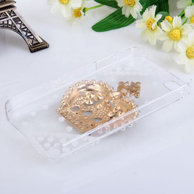 Гаджет   Popular 3D Imperial Crown Style Diamonds Clear Plastic Shell Case for iPhone 4 / 4S iPhone Cases/Covers