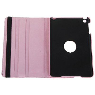 ФОТО Cool Crocodile Texture Style PU Leather and Plastic Protective Case for iPad Mini with 360 Degrees Rotating Stand